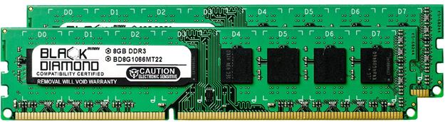 Picture of 16GB Kit (2x8GB) DDR3 1066 (PC3-8500) Memory 240-pin (2Rx8)