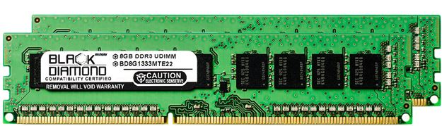 Picture of 16GB Kit (2x8GB) DDR3 1333 (PC3-10600) ECC Memory 240-pin (2Rx8)