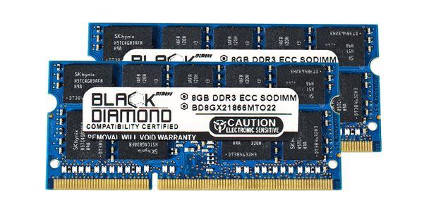 Picture of 16GB Kit (2x8GB) DDR3 1866 (PC3 14900) ECC SODIMM Memory 204-pin (2Rx8)