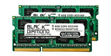 Picture of 16GB Kit(2X8GB) DDR3 1600 (PC3-12800) SODIMM Memory 204-pin (2Rx8)