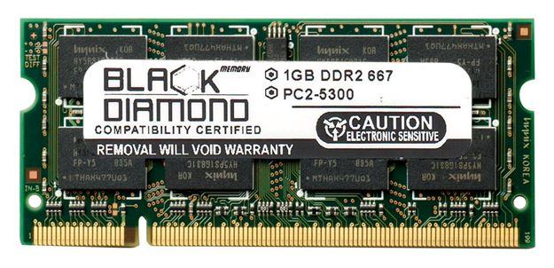 Picture of 1GB DDR2 667 (PC2-5300) SODIMM Memory 200-pin (1Rx8)
