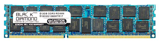 Picture of 2GB  DDR3 1066 (PC3-8500) ECC Registered Memory 240-pin (1Rx4)