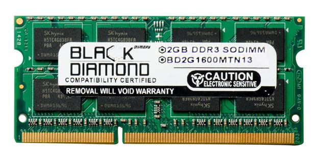 Picture of 2GB DDR3 1600 (PC3-12800) SODIMM Memory 204-pin (2Rx8)