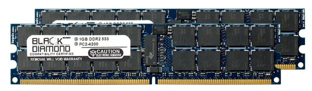 Picture of 2GB Kit (2x1GB) DDR2 533 (PC2-4200) ECC Registered Memory 240-pin (2Rx4)