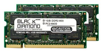 Picture of 2GB Kit (2x1GB) DDR2 800 (PC2-6400) SODIMM Memory 200-pin (2Rx8)