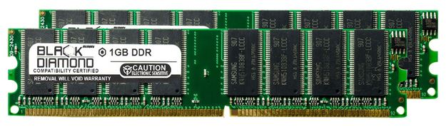 Picture of 2GB Kit(2X1GB) DDR 266 (PC-2100) Memory 184-pin