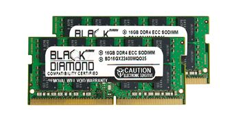 Picture of 32GB Kit (2x16GB) DDR4 2400 ECC SODIMM Memory 260-pin (2Rx8)