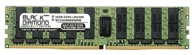 Picture of 32GB LRDIMM DDR4 2666 ECC Registered Memory 288-pin (4Rx4)
