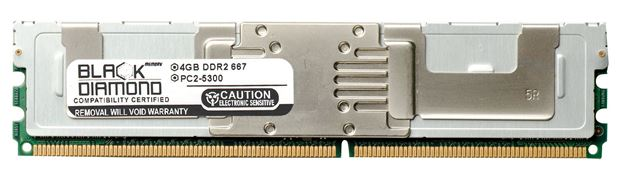 Picture of 4GB DDR2 667 (PC2-5300) Fully Buffered Memory 240-pin (2Rx4)