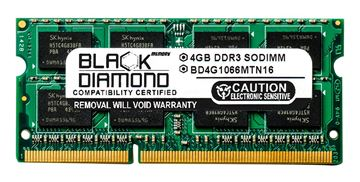 Picture of 4GB DDR3 1066 (PC3-8500) SODIMM Memory 204-pin (2Rx8)