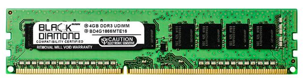 Picture of 4GB DDR3 1866 (PC3-14900) ECC Memory 240-pin (2Rx8)