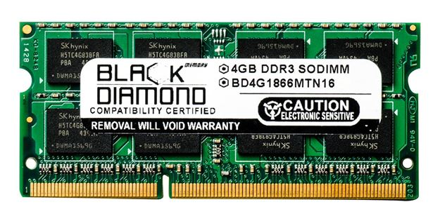 Picture of 4GB DDR3 1866 (PC3-14900) SODIMM Memory 204-pin (2Rx8)