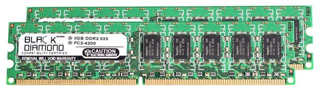 Picture of 4GB Kit (2x2GB) DDR2 533 (PC2-4200) ECC Memory 240-pin (2Rx8)