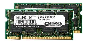 Picture of 4GB Kit (2x2GB) DDR2 667 (PC2-5300) SODIMM Memory 200-pin (2Rx8)