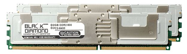 Picture of 4GB Kit (2x2GB) DDR2 800 (PC2-6400) Fully Buffered Memory 240-pin (2Rx4)