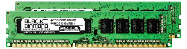 Picture of 4GB Kit (2x2GB) DDR3 1333 (PC3-10600) ECC Memory 240-pin (2Rx8)