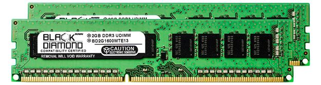 Picture of 4GB Kit (2x2GB) DDR3 1600 (PC3-12800) ECC Memory 240-pin (2Rx8)