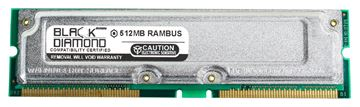 Picture of 512MB Rambus PC800 40ns Memory 184-pin