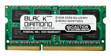 Picture of 8GB (2Rx8) DDR3 1333 (PC3-10600) ECC SODIMM Memory 204-pin