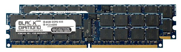 Picture of 8GB Kit (2x4GB) DDR2 533 (PC2-4200) ECC Registered Memory 240-pin (2Rx4)