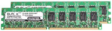 Picture of 8GB Kit (2x4GB) DDR2 667 (PC2-5300) ECC Memory 240-pin (2Rx8)