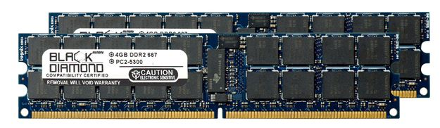 Picture of 8GB Kit (2x4GB) DDR2 667 (PC2-5300) ECC Registered VLP Memory 240-pin (2Rx4)