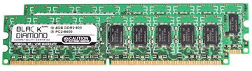 Picture of 8GB Kit (2x4GB) DDR2 800 (PC2-6400) ECC Memory 240-pin (2Rx8)