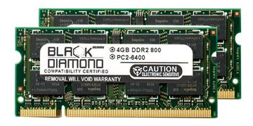 Picture of 8GB Kit (2x4GB) DDR2 800 (PC2-6400) SODIMM Memory 200-pin (2Rx8)