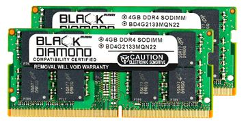 Picture of 8GB Kit (2x4GB) DDR4 2133 SODIMM Memory 260-pin (2Rx8)