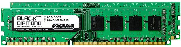 Picture of 8GB Kit(2x4GB) DDR3 1066 (PC3-8500) Memory 240-pin (2Rx8)