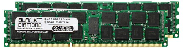 Picture of 8GB Kit(2x4GB) DDR3 1333 (PC3-10600) ECC Registered Memory 240-pin (2Rx8)