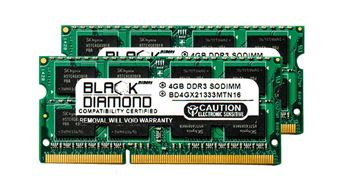 Picture of 8GB Kit(2x4GB) DDR3 1333 (PC3-10600) SODIMM Memory 204-pin (2Rx8)