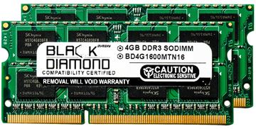 Picture of 8GB Kit(2x4GB) DDR3 1600 (PC3-12800) SODIMM Memory 204-pin (2Rx8)