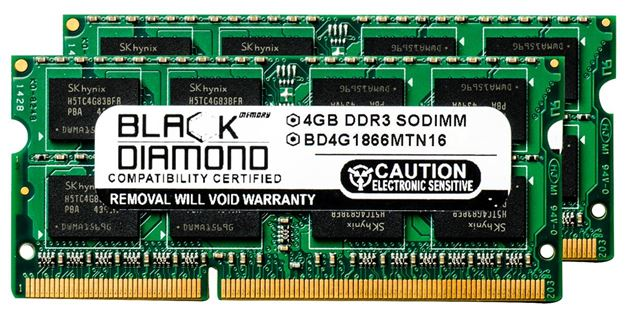Picture of 8GB Kit(2x4GB) DDR3 1866 (PC3-14900) SODIMM Memory 204-pin (2Rx8)