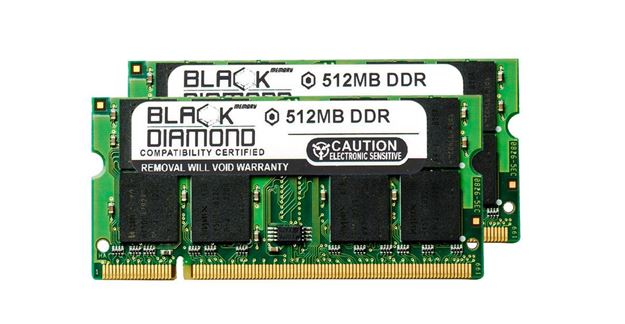 Picture of 1GB Kit(2X512MB) DDR 266 (PC-2100) SODIMM Memory 200-pin (2Rx8)