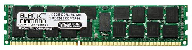 Picture of 32GB LRDIMM DDR3 1333 (PC3-10600) ECC Registered Memory 240-pin (4Rx4)