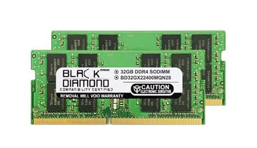 Picture of 64GB Kit(2X32GB) DDR4 2400 SODIMM Memory 260-pin (2Rx8)