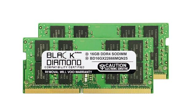 Picture of 32GB Kit(2X16GB) DDR4 2666 SODIMM Memory 260-pin (2Rx8)