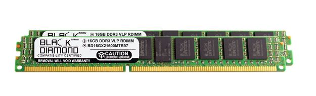 Picture of 32GB Kit (2x16GB) DDR3 1600 (PC3-12800) ECC Registered VLP Memory 240-pin (2Rx4)