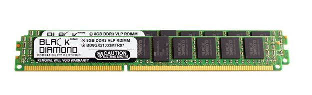 Picture of 16GB Kit (2x8GB) DDR3 1333 (PC3-10600) ECC Registered VLP Memory 240-pin (2Rx4)